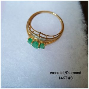 Emerald an Diamond 14KT